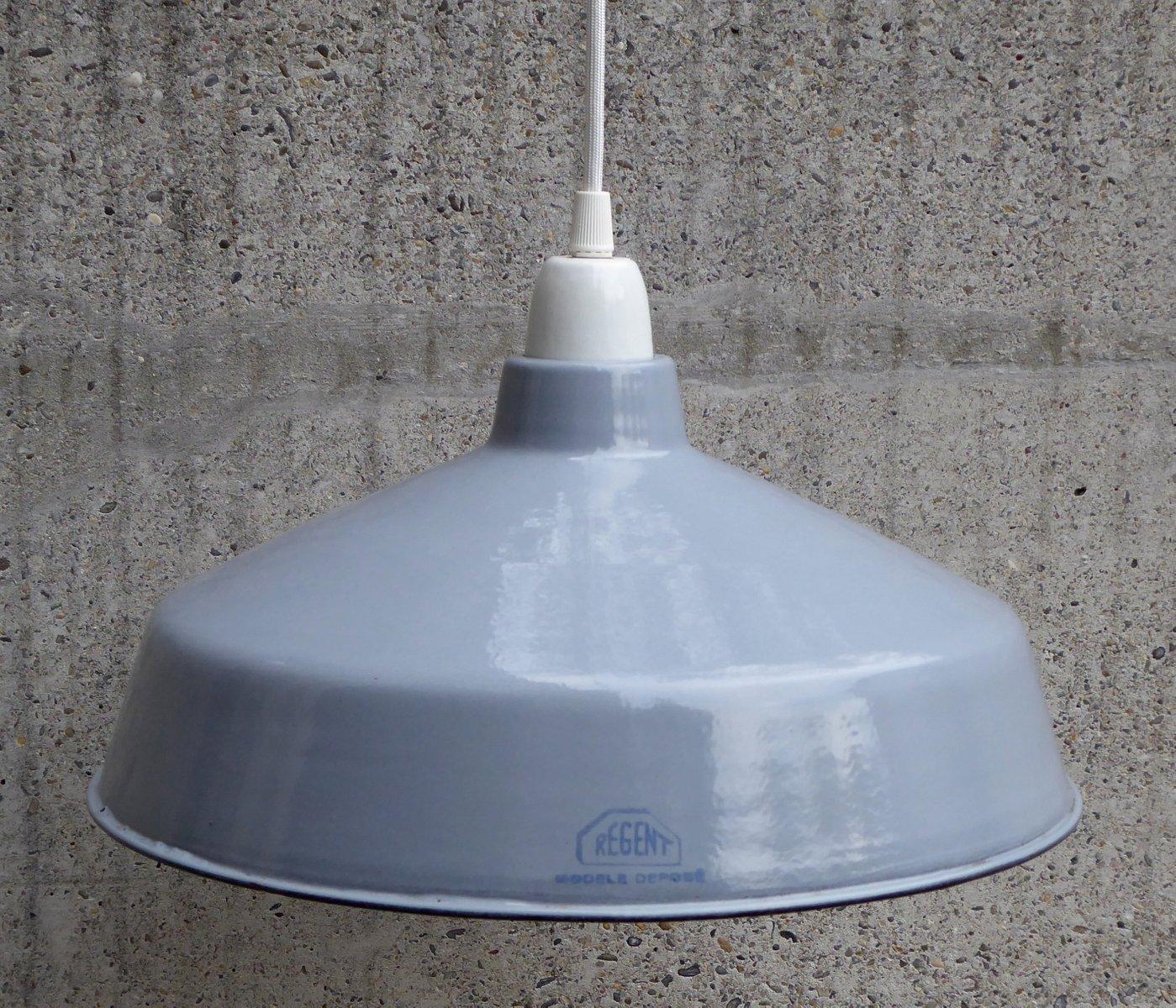 Schweizer Industrielampe aus Emaille von Regent, 1930er