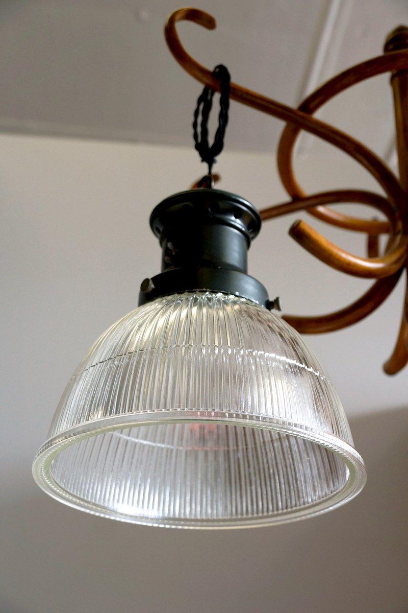 Deckenlampen von Holophane, 1920er, 7erSet