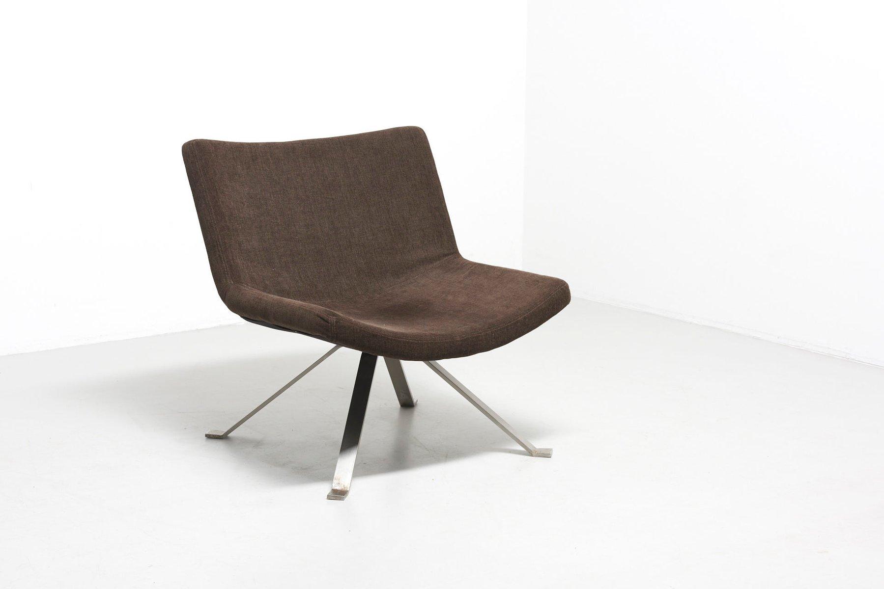 mid century sessel mit flachen stahlbeinen bei pamono kaufen. Black Bedroom Furniture Sets. Home Design Ideas