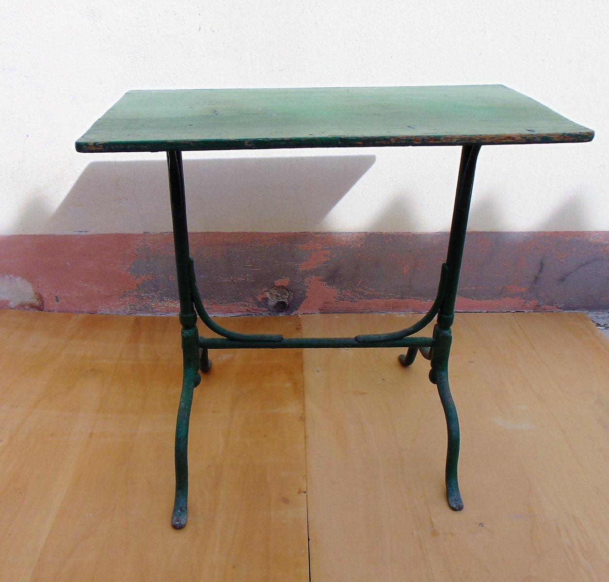 table de jardin vintage en fer et bois en vente sur pamono. Black Bedroom Furniture Sets. Home Design Ideas