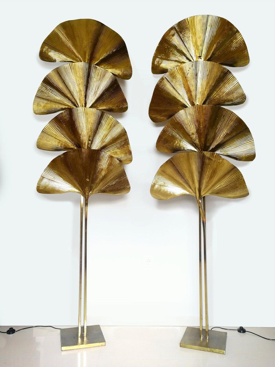 Ginkgo Lampen von Tommaso Barbi, 1970er, 2er Set