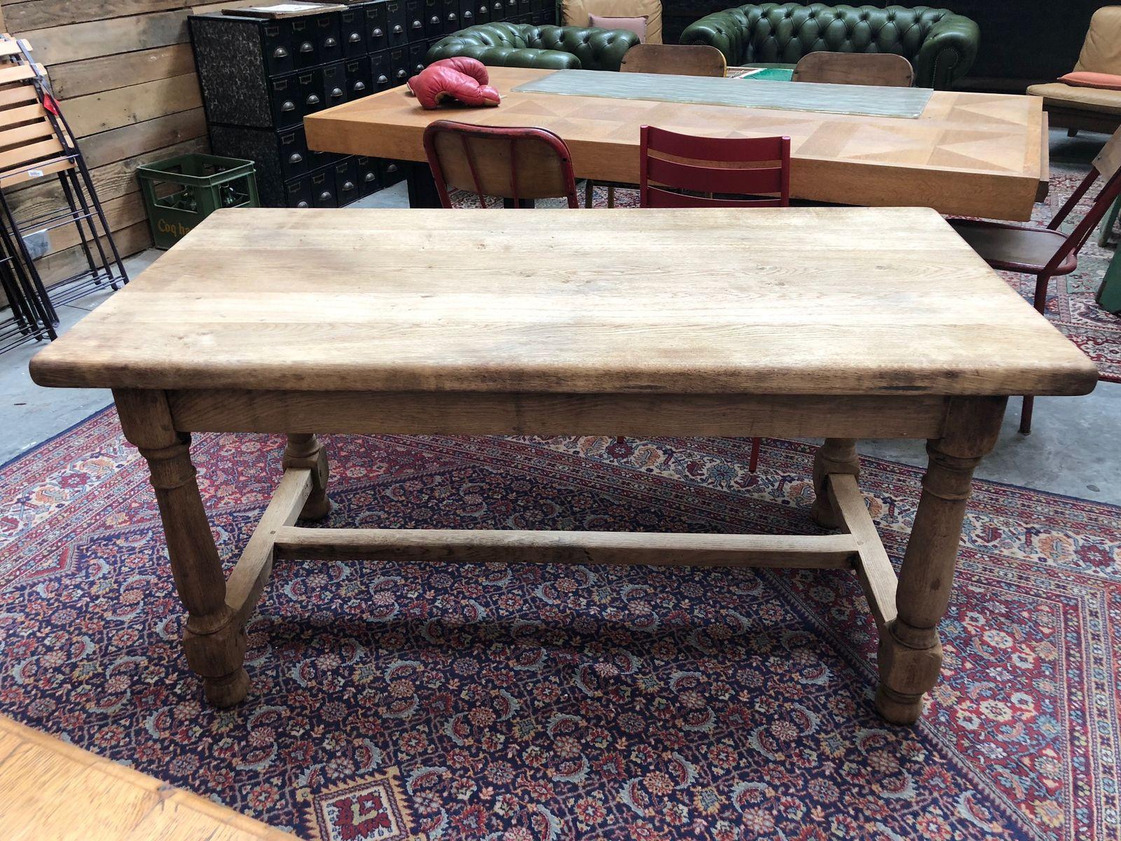 Kleiner Vintage Bauerntisch aus Eiche