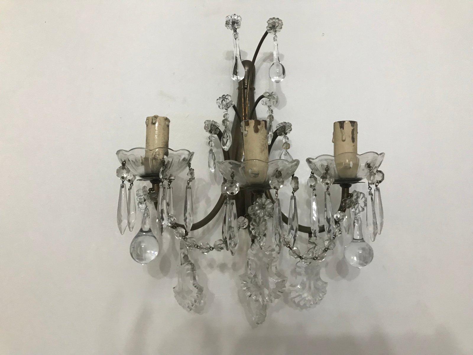 Applique vetro vintage vintage lampada applique da parete