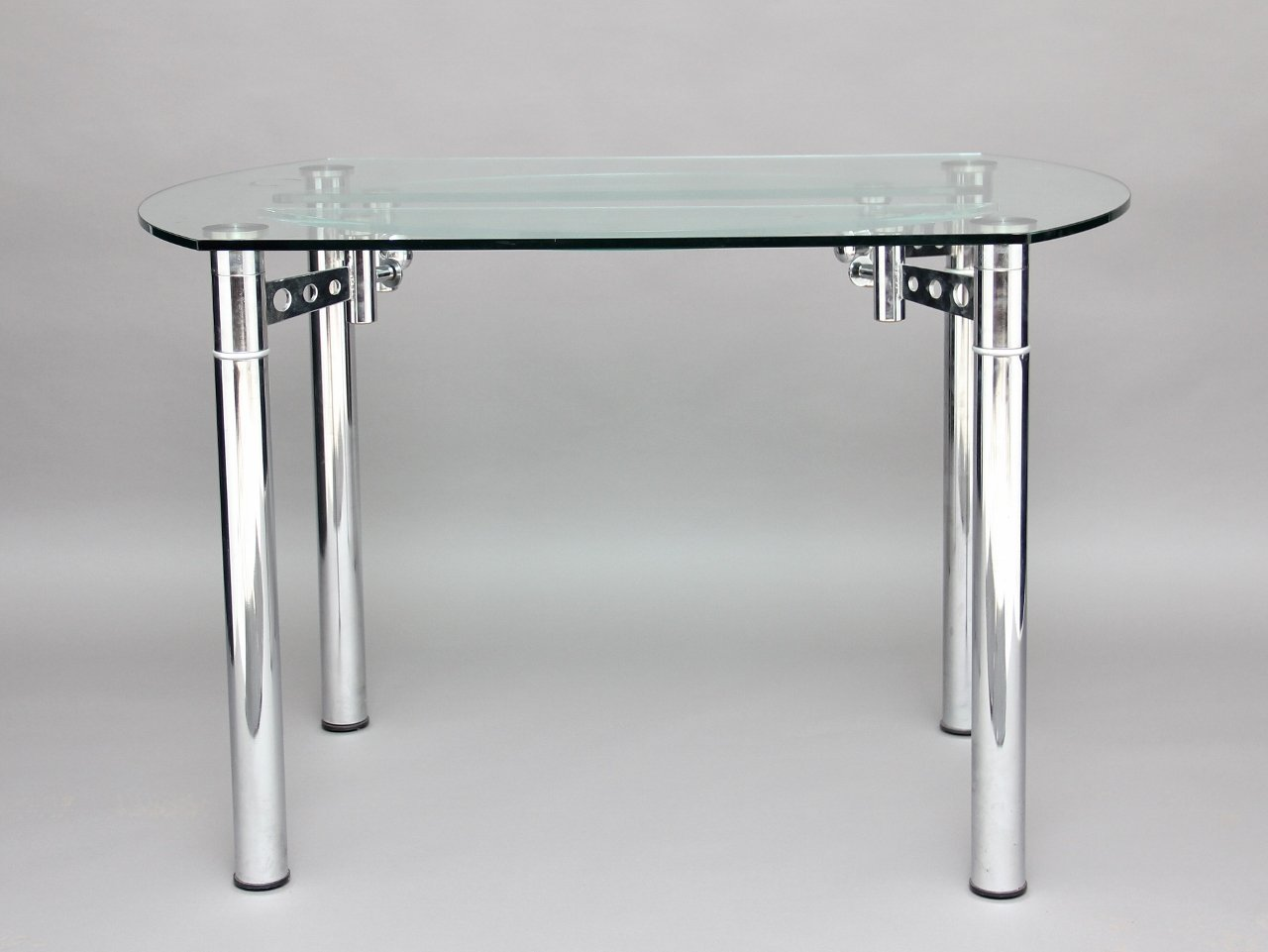 Vintage Chrome and Glass Dining Table
