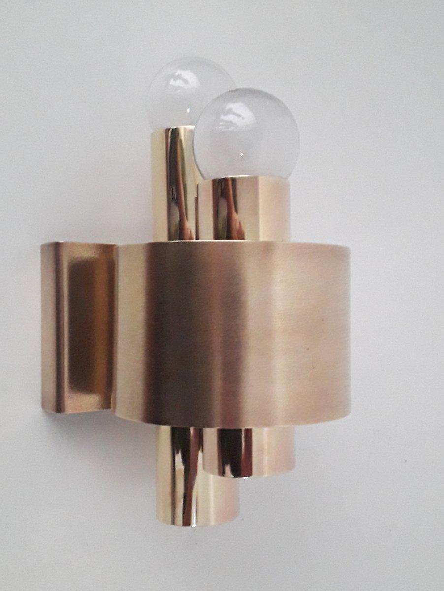 Vintage Wandlampen aus Messing, 1970er, 2er Set