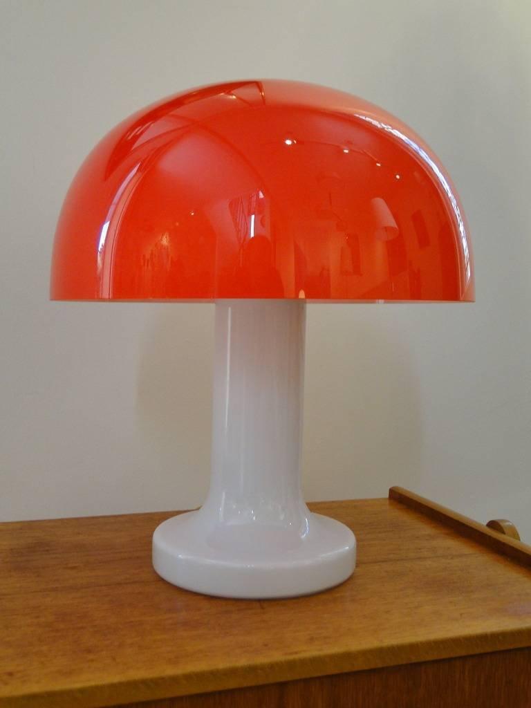 Vintage Mushroom Glaslampe von Michael Bang