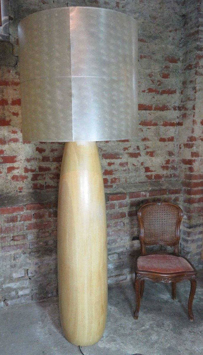 Stehlampe aus Holz, 1980er