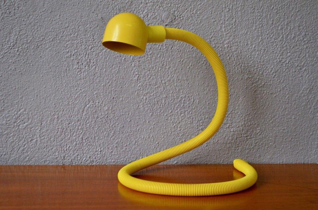 Vintage Hebi Schreibtischlampe von Isao Hosoe für Valenti Luce