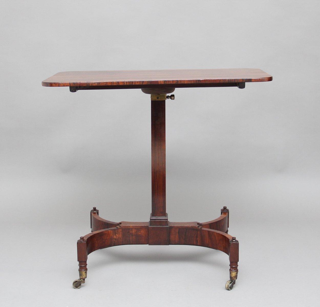 Verstellbarer Tisch aus Palisander, 19. Jh.