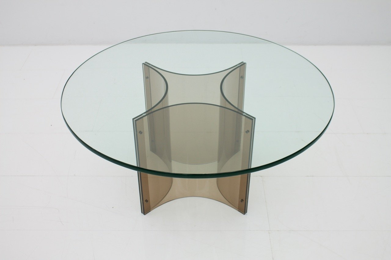 Couchtisch aus Plexiglas & Glas, 1960er