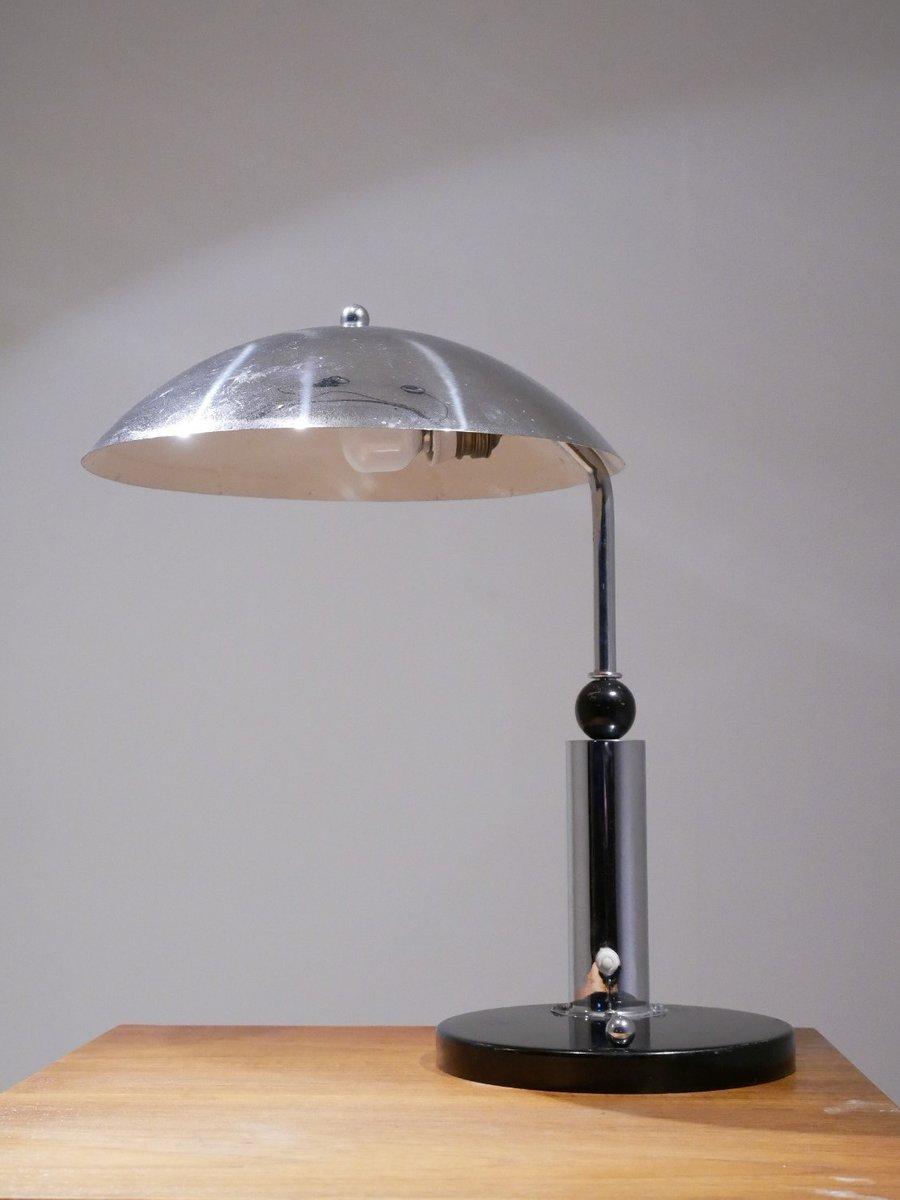 Vintage Schreibtischlampe aus Chrom von KMD Daalderop