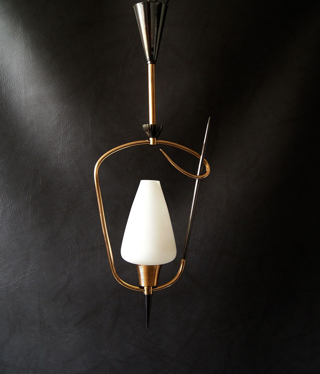 Pendant Lamp from Arlus, 1950s