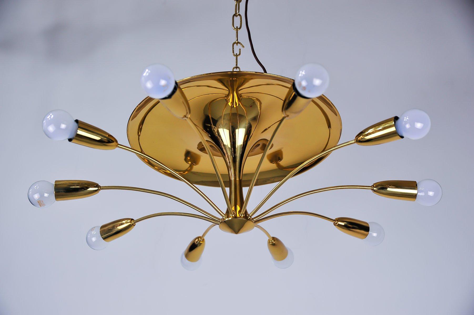 Sputnik Ceiling Lamp by Rupert Nikoll, 1950s