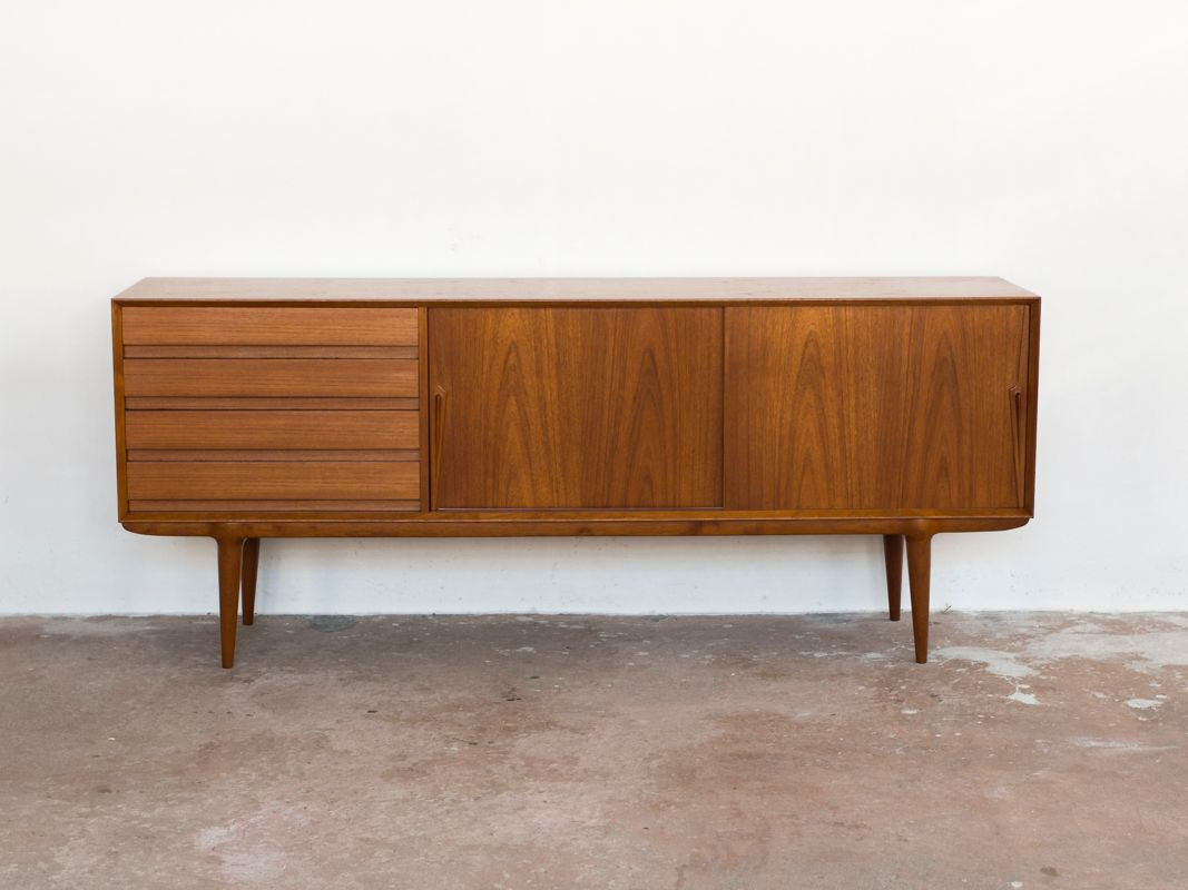 Model 18 Teak Sideboard by Omann Jun, 1960s
