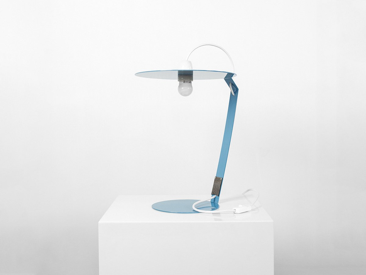 Pastellblaue OT2 Lampe von Marco Capeto für Officine Tamborrino