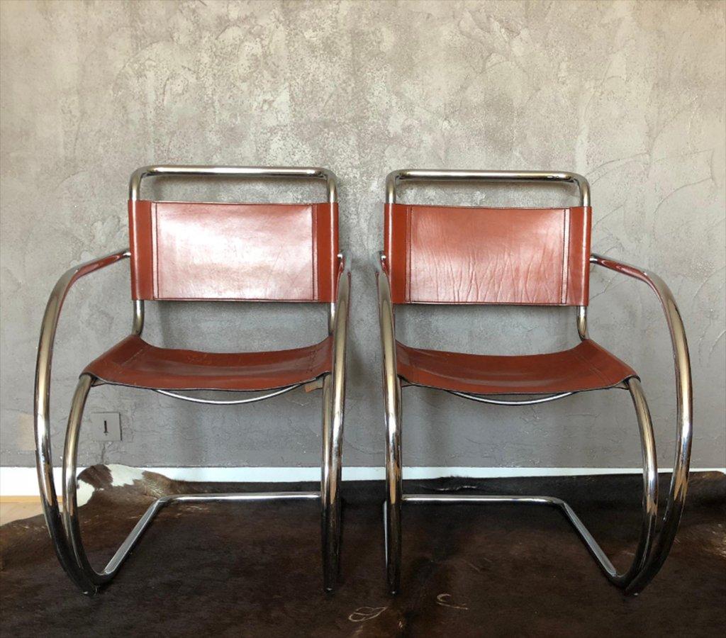 sedia rattan side chair knoll mr 10 design mies van der rohe anni 60 vintage | eBay