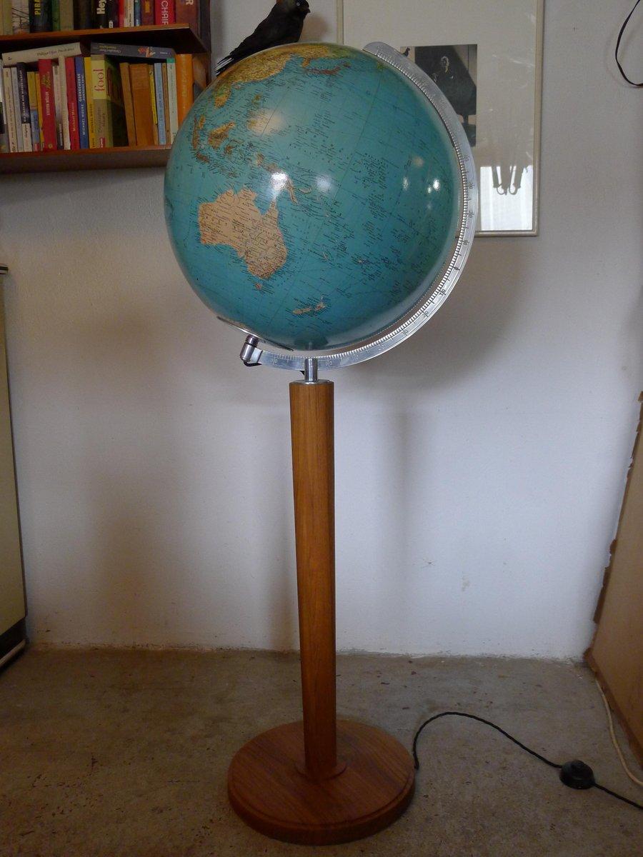 Vintage Globus aus Teak von Columbus Oestergaard