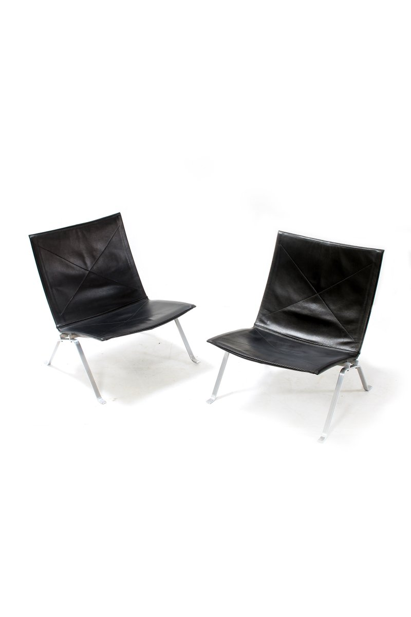 PK22 Stühle von Poul Kjærholm für E. Kold Christensen, 1950er, 2er Set