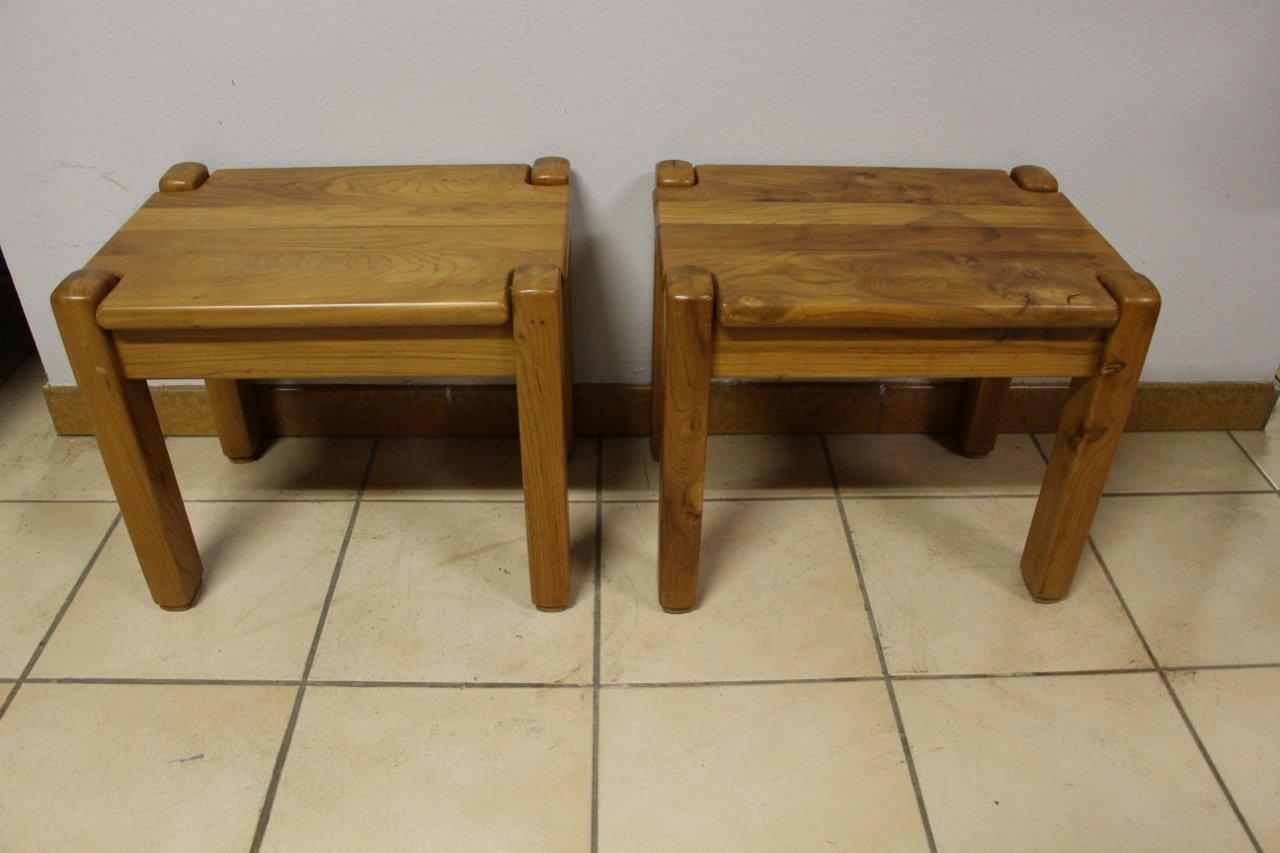 Vintage Nightstands or Side Tables, Set of 2