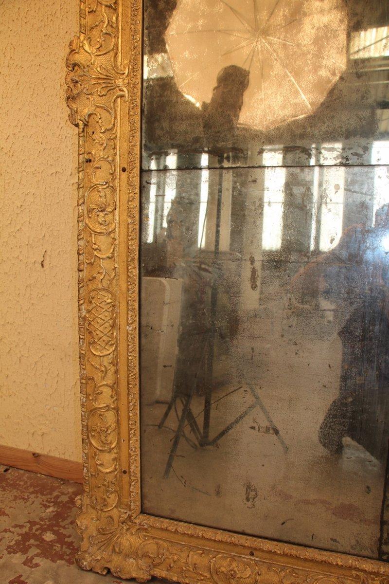 Antiker spiegel mit goldenem holzrahmen bei pamono kaufen - Alter spiegel mit holzrahmen ...