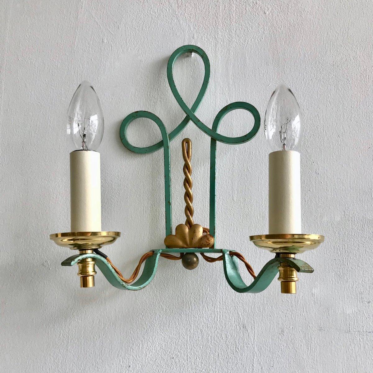 Wandlampen aus Schmiedeeisen, 1900er, 2er Set