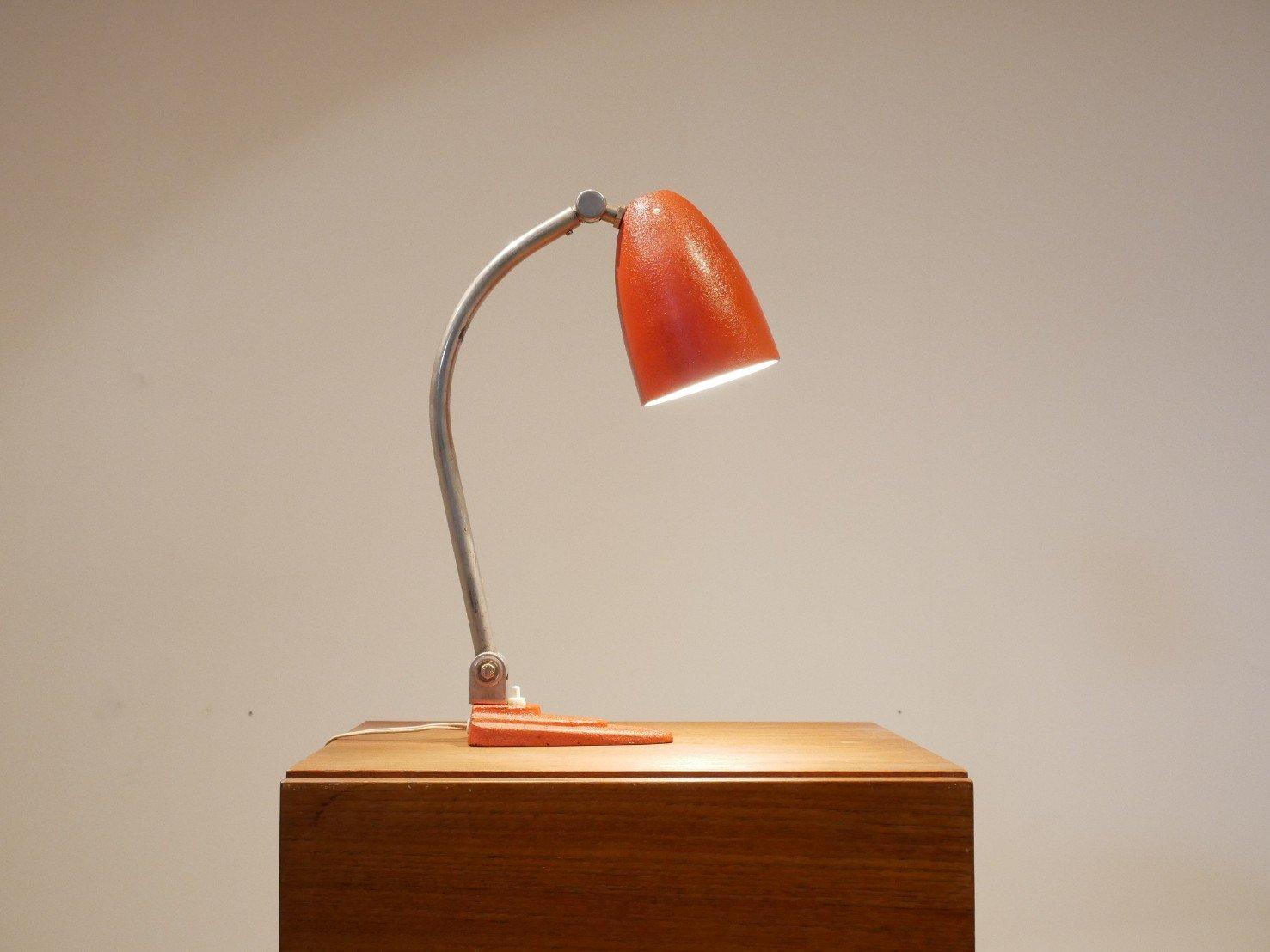 Rote Schreibtischlampe von Gispen, 1920er