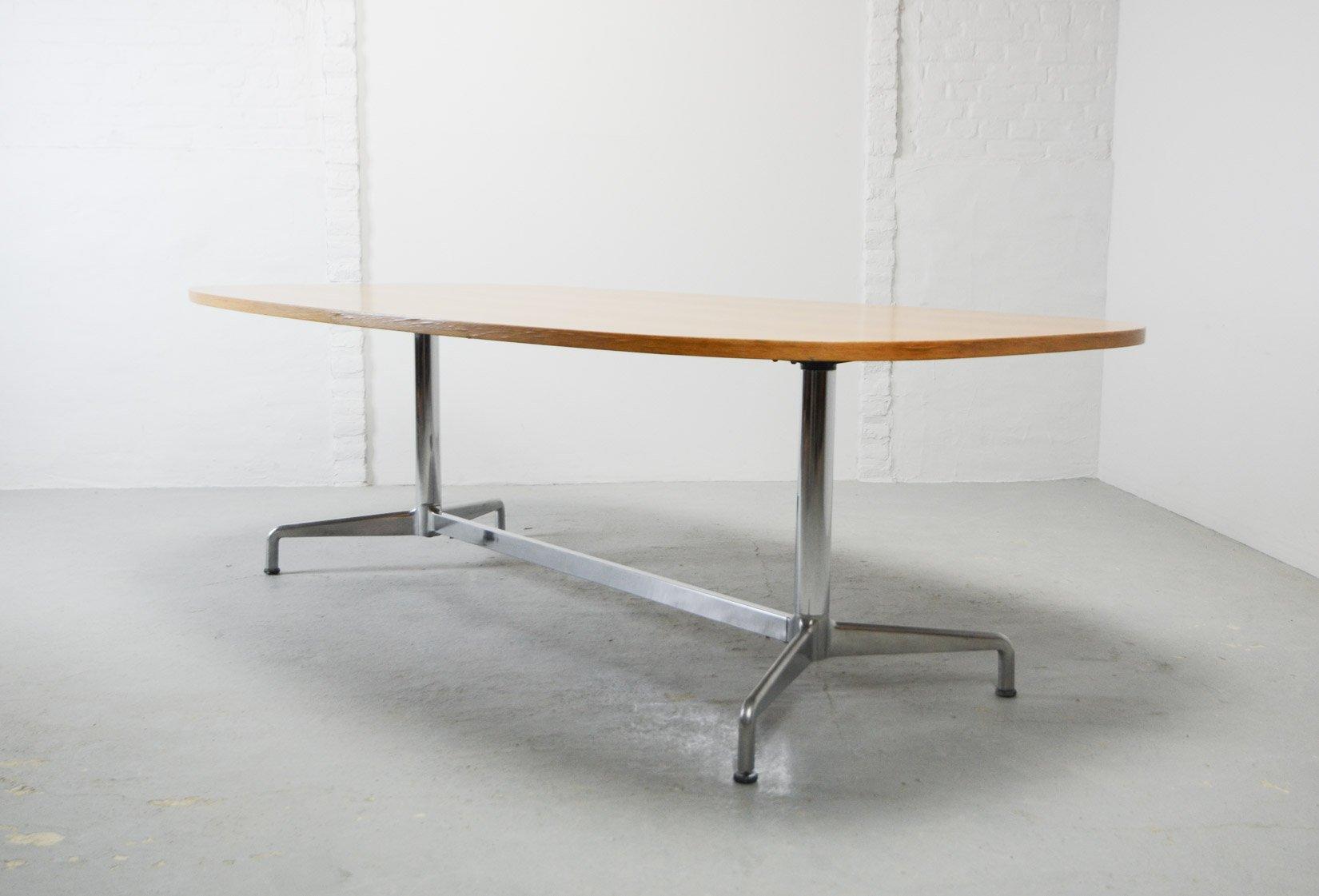 grande table de conf rence mid century en bois par charles. Black Bedroom Furniture Sets. Home Design Ideas