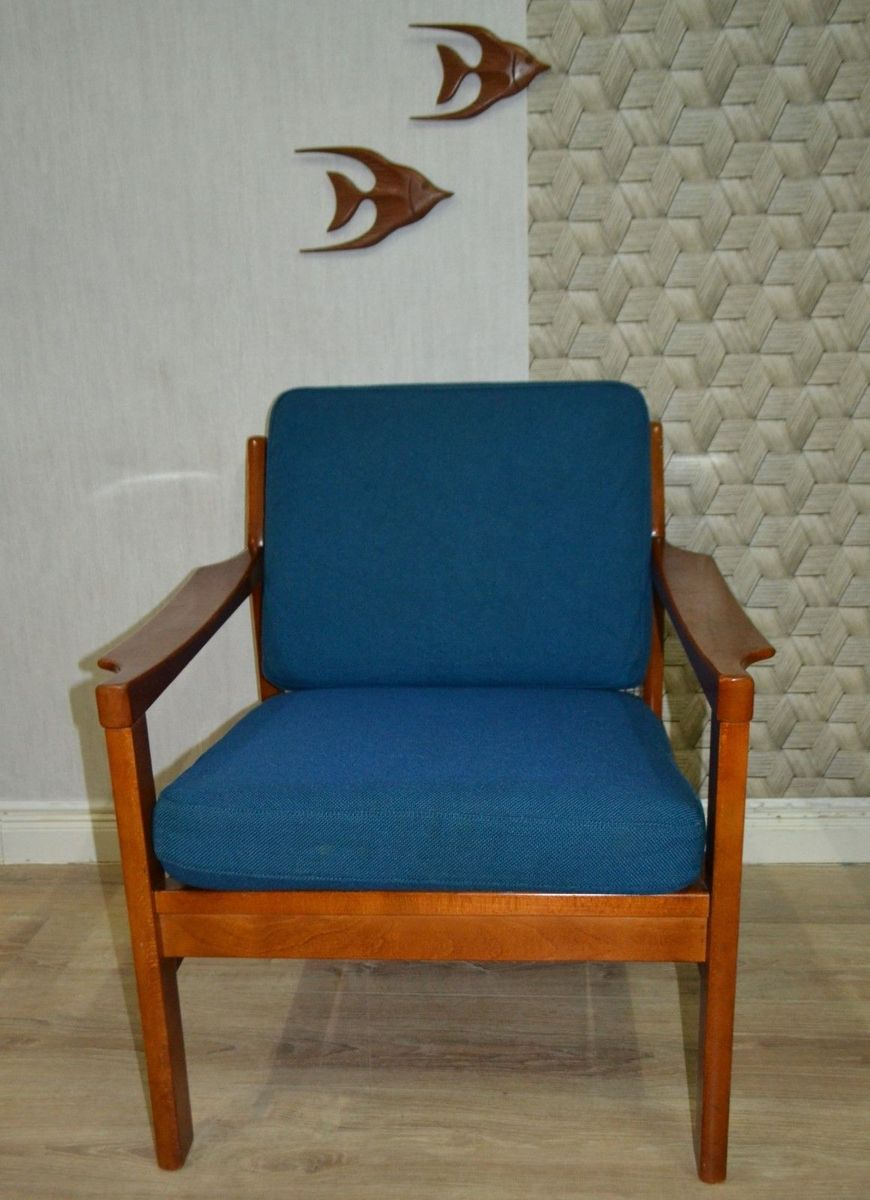 Blauer Sessel, 1960er