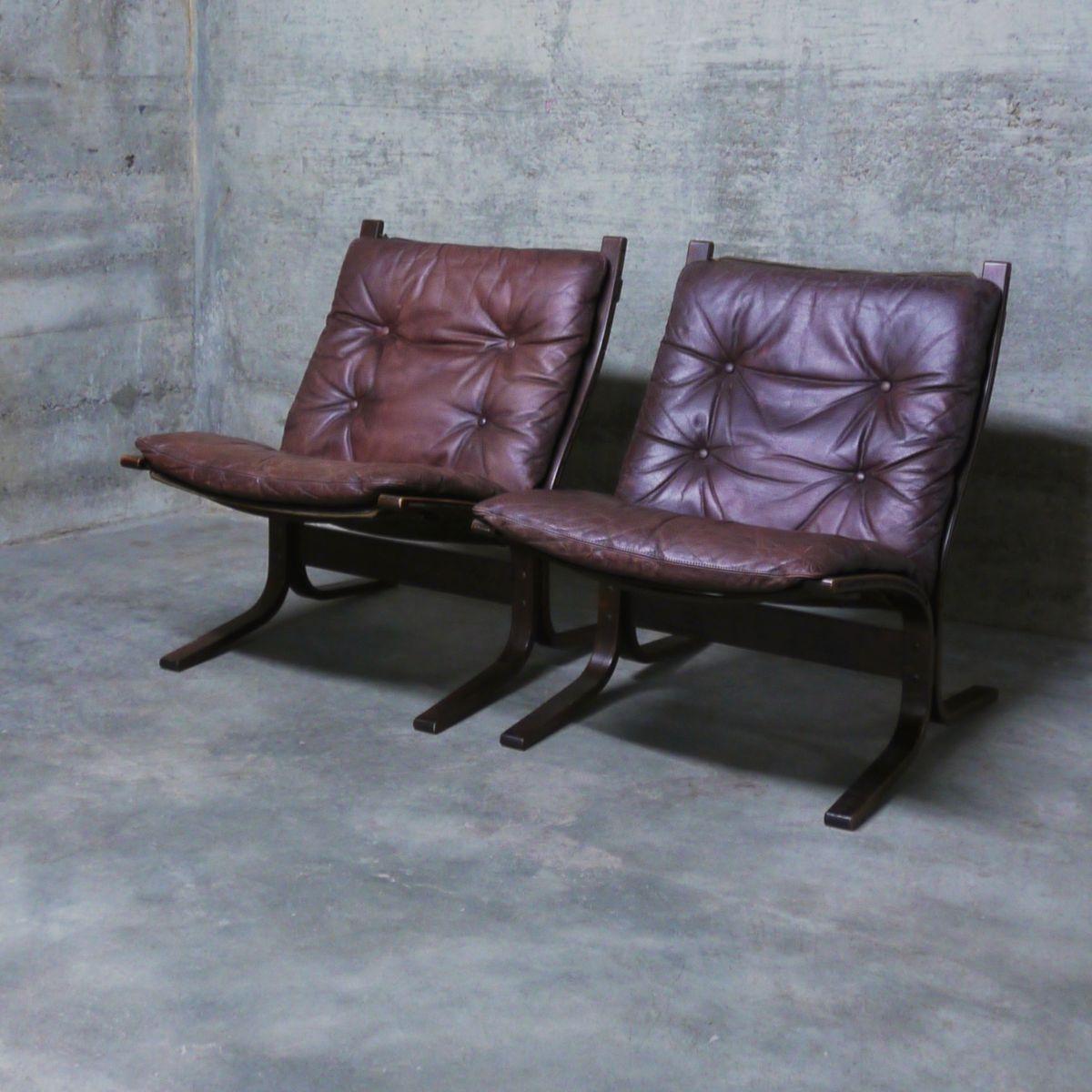 Mid-Century Siesta Sessel aus Leder von Ingmar Relling für Westnofa, 1...