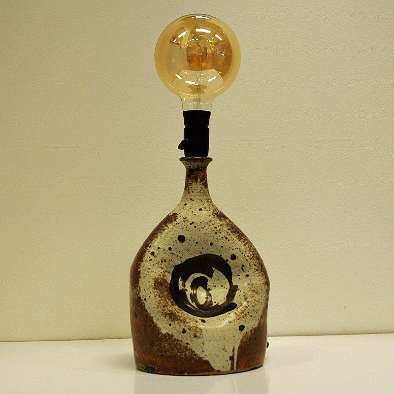 Vintage Tischlampe aus Keramik