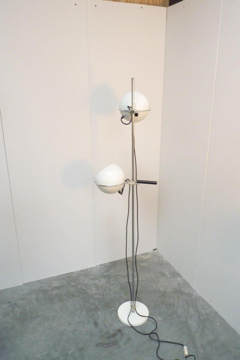 Mid-Century Stehlampe mit kugelförmigen Schirmen