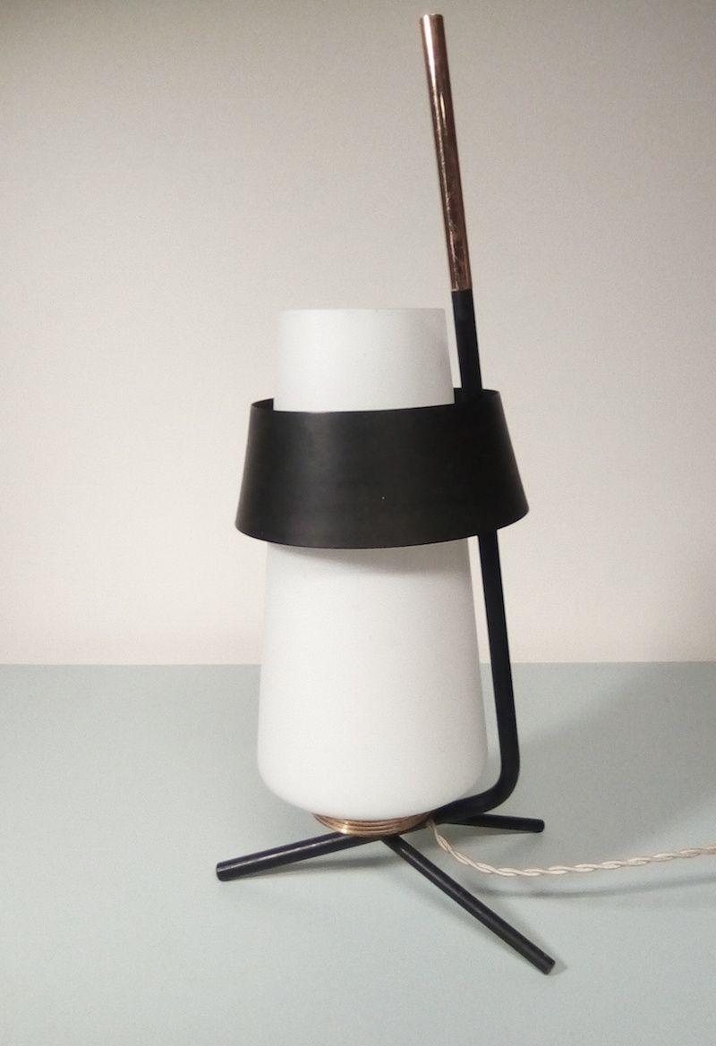 Dreibeinige Vintage Tischlampe von Arlus
