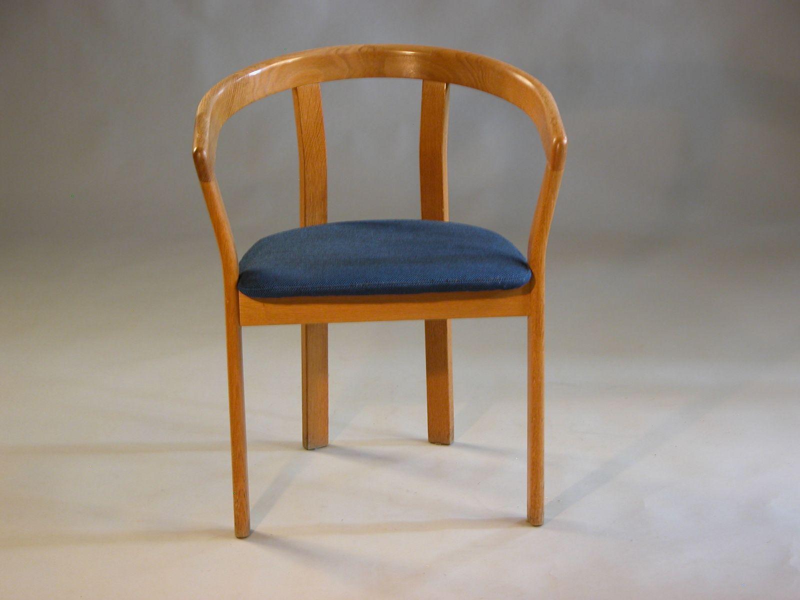 Sessel aus Eiche von Høng Stolefabrik, 1970er, 2er Set