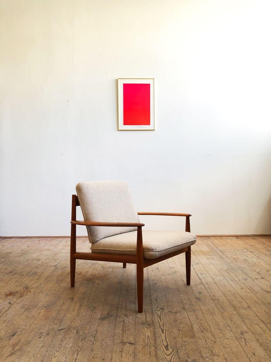 Dänischer Mid-Century Sessel aus Teak von Grete Jalk für Cado