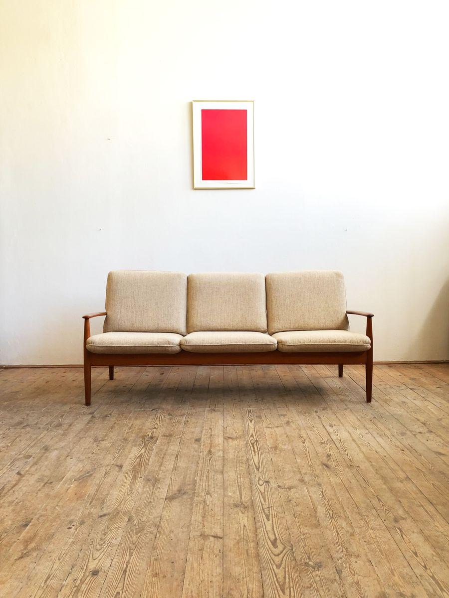 Mid Century Danish Modern Teak Sofa By Grete Jalk For Cado