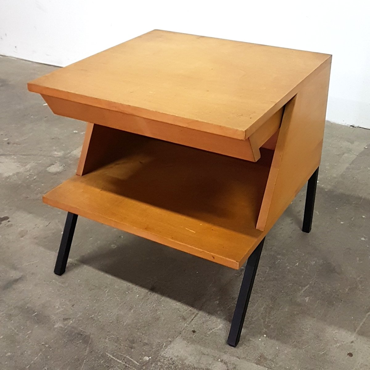 Mid Century Side Table With Drawer From Trefac