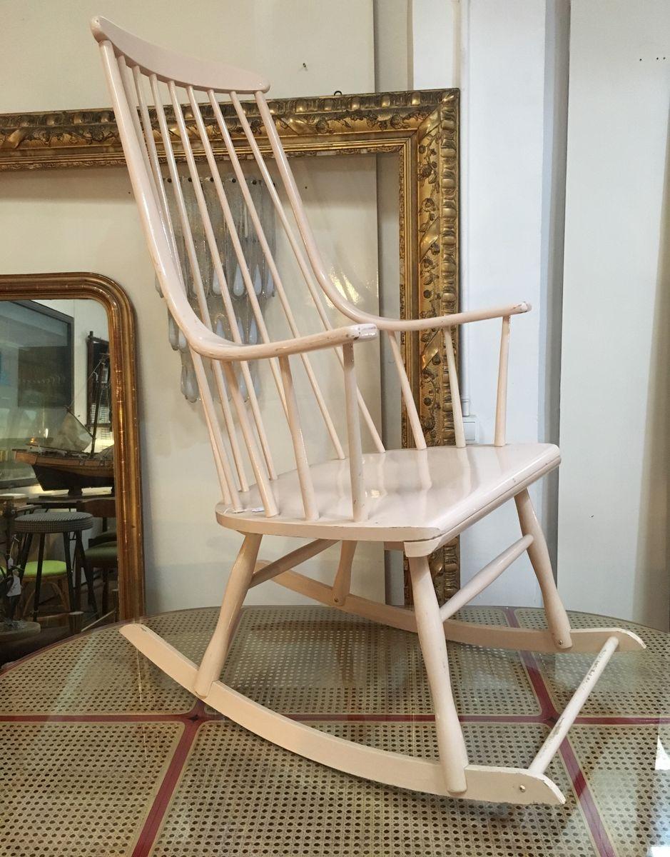 Vintage Schaukelstuhl skandinavischer vintage schaukelstuhl bei pamono kaufen