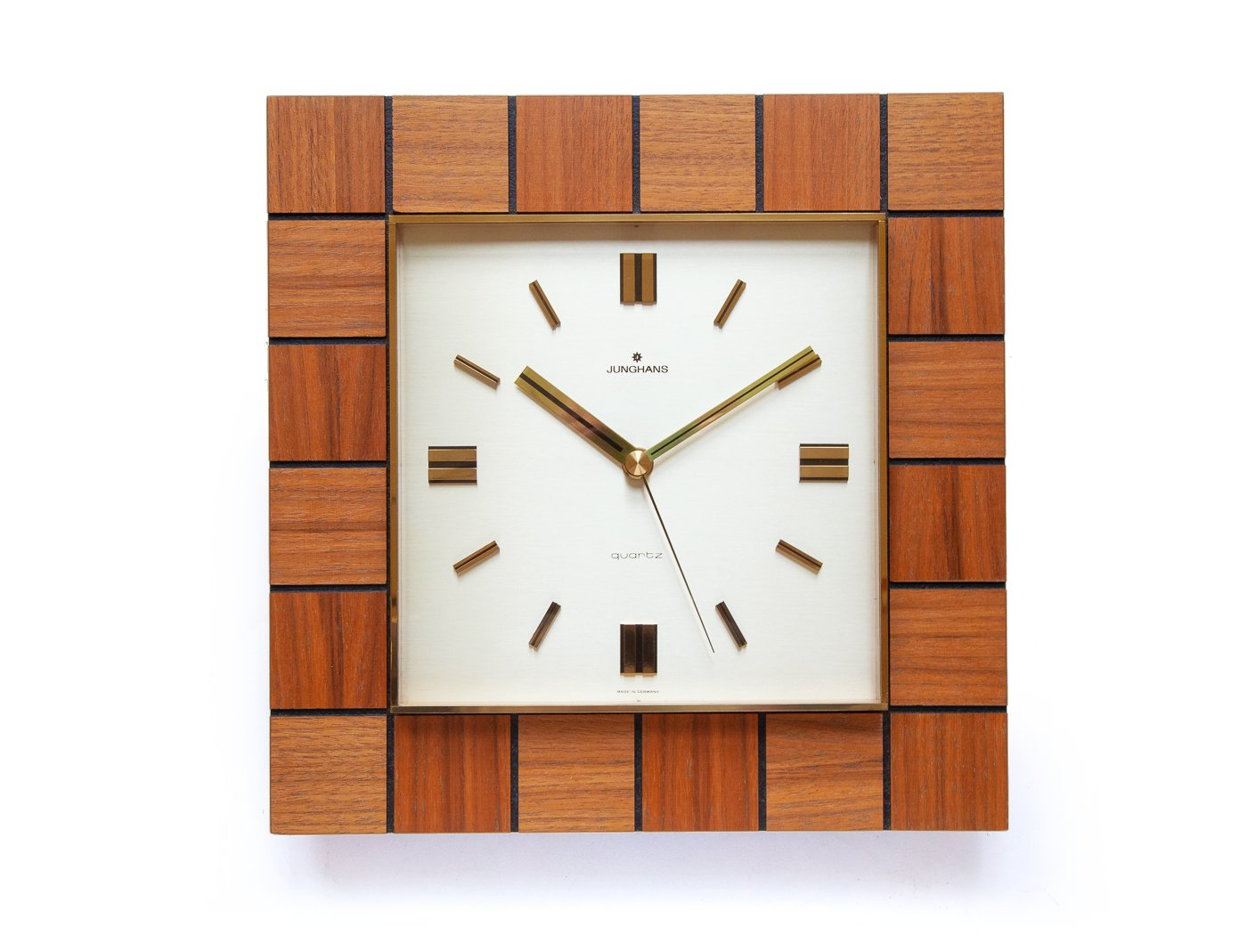 Mid century wall clock from junghans 1970s