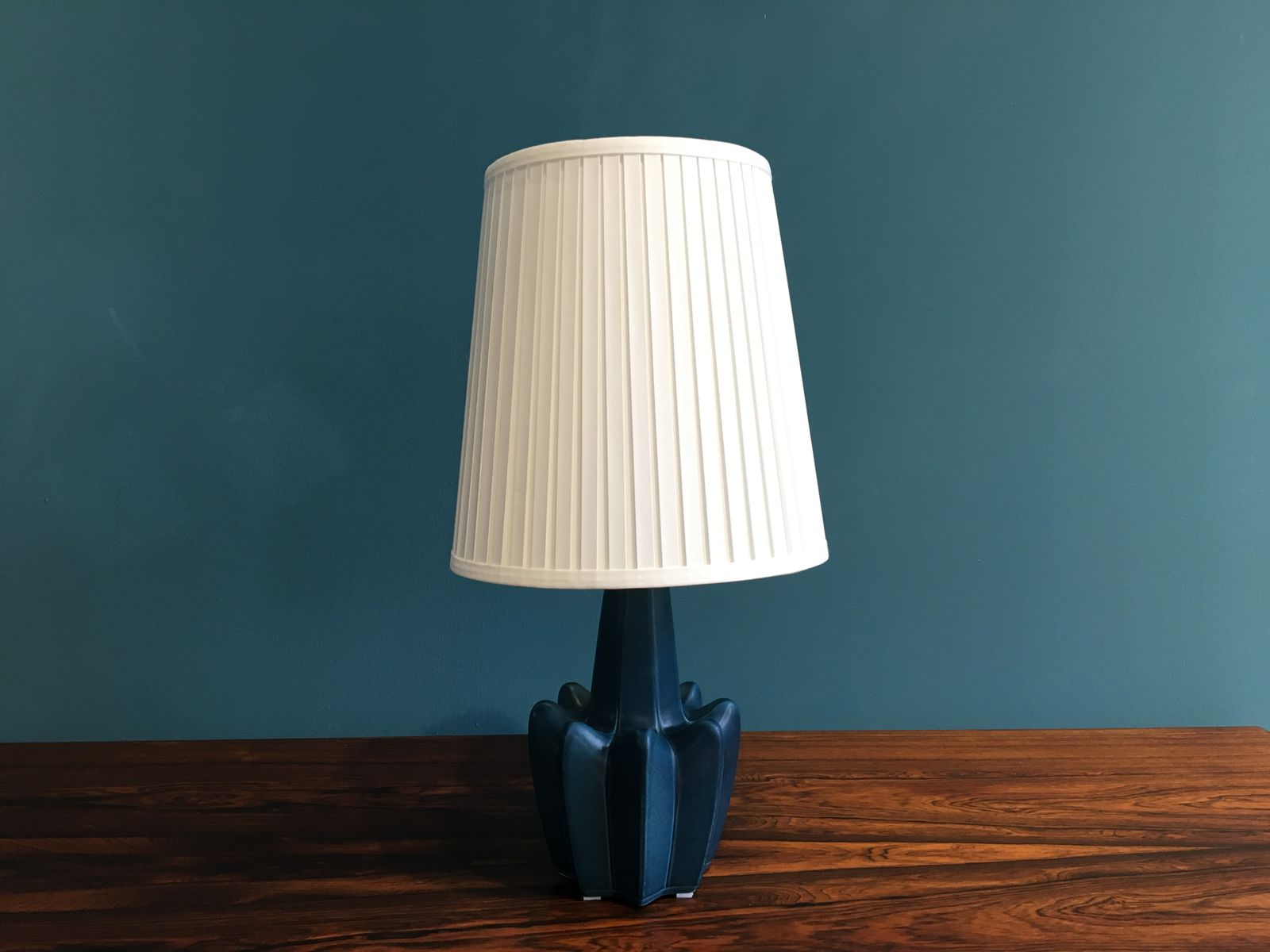 Vintage Danish Blue Ceramic Table Lamp For Sale At Pamono
