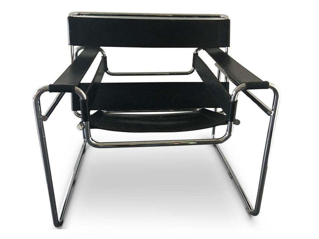 Chaise Wassily B3 Vintage Par Marcel Breuer Pour Gavina 1960s