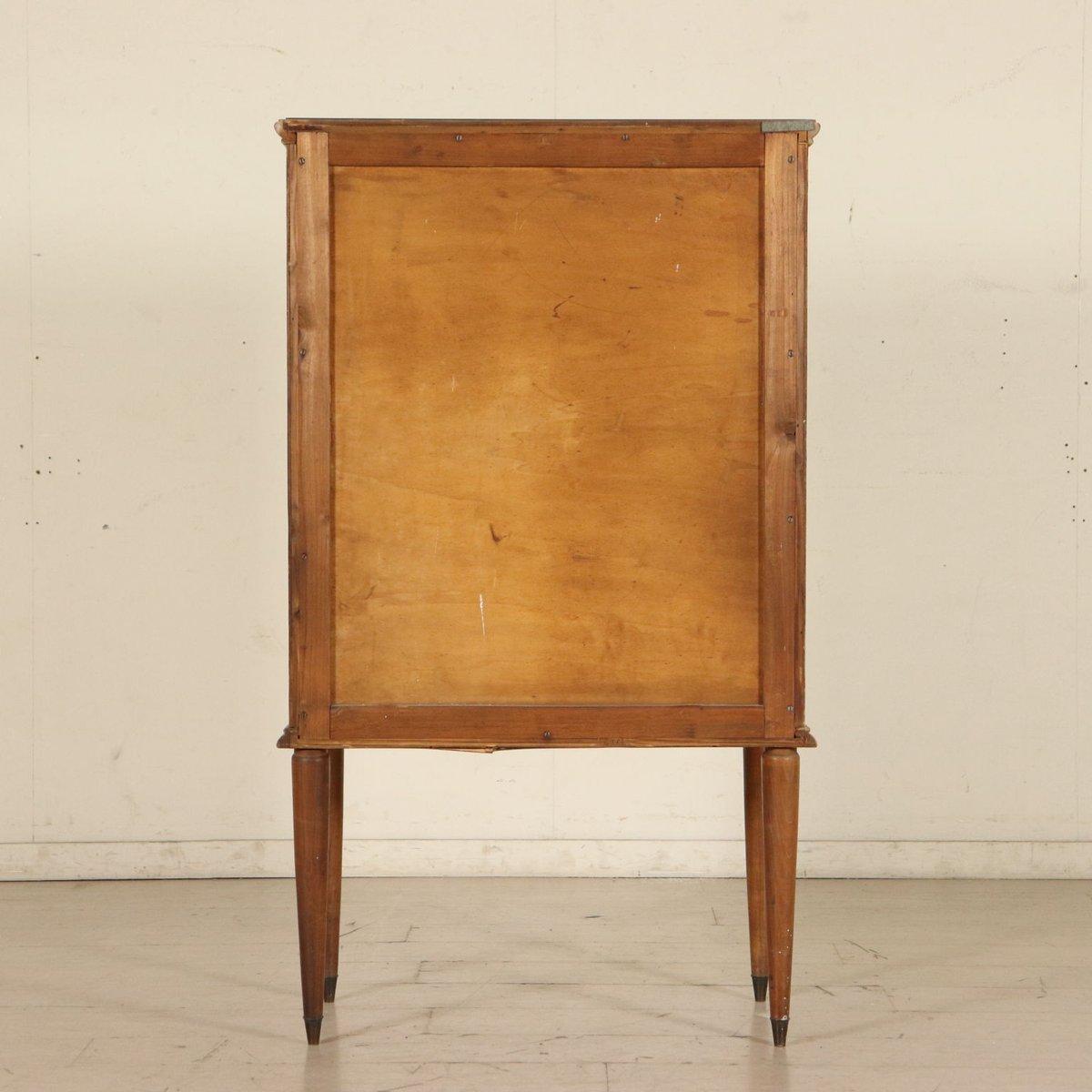 ausklappbarer schrank mit mahagonifurnier und fach aus glas 1950er bei pamono kaufen. Black Bedroom Furniture Sets. Home Design Ideas