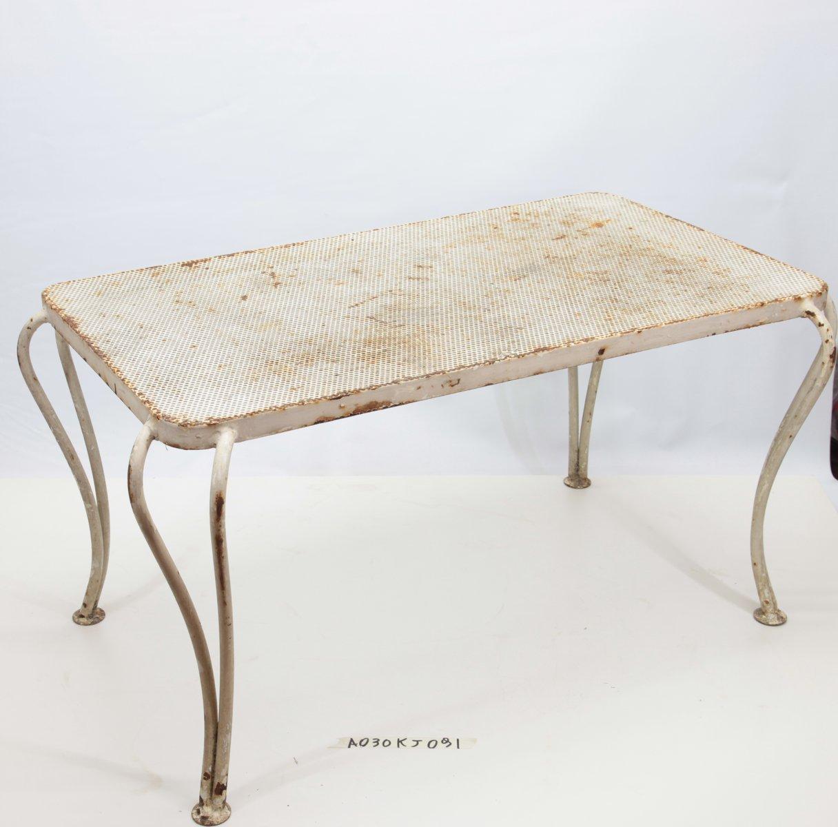 Gartentisch aus wei lackiertem eisen 1950er bei pamono for Gartentisch weiss