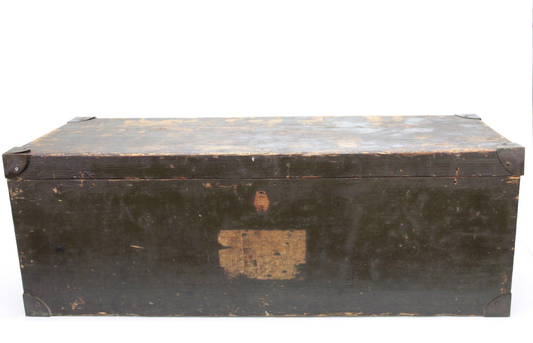 Militärgrüne italienische Kommode aus Holz, 1930er