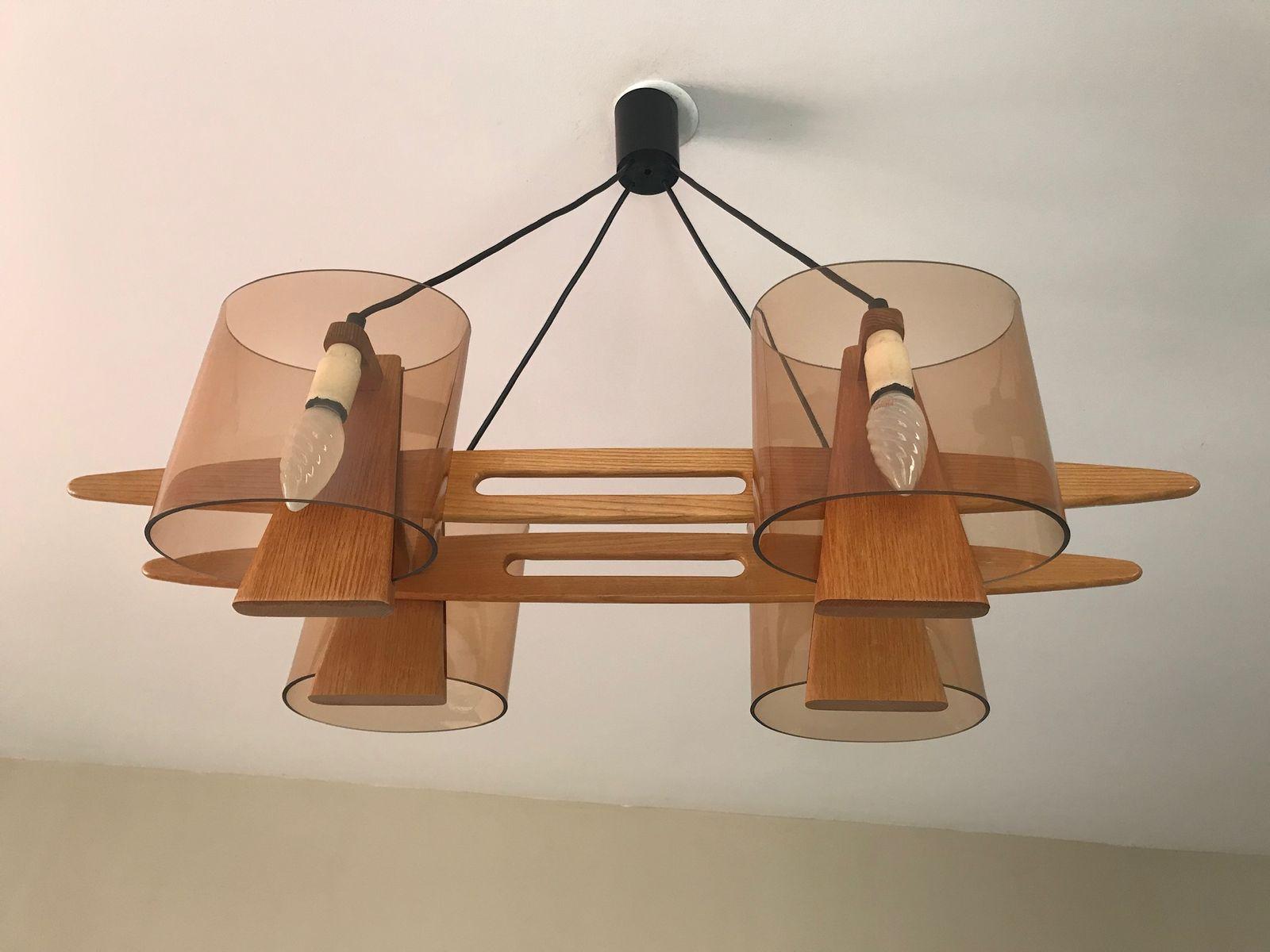 Kronleuchter Holz ~ Kronleuchter aus holz 1960er bei pamono kaufen
