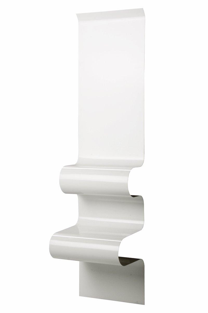 Weißer Nachttisch in Wellen-Optik von Julien Vidame
