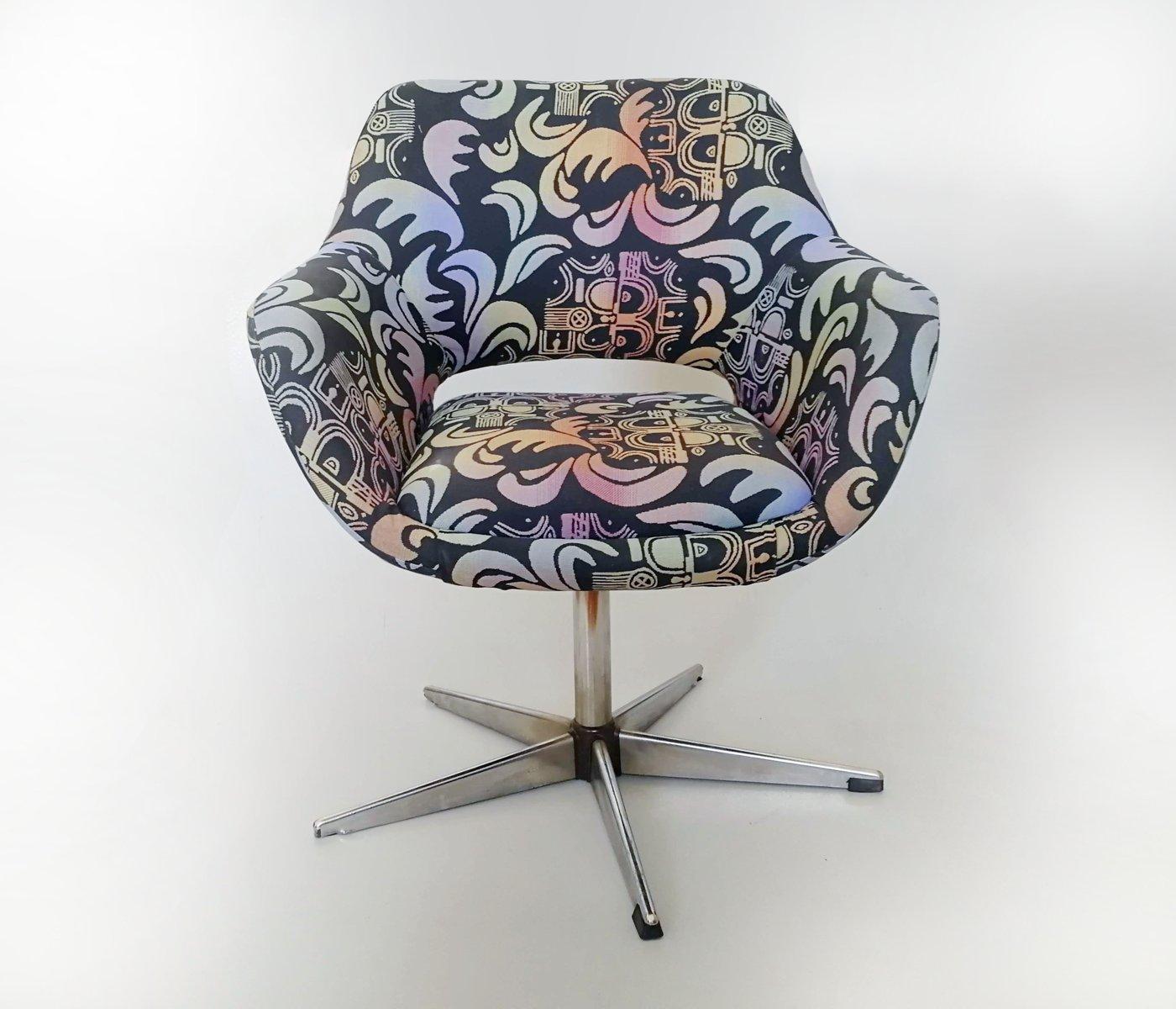 Sessel mit Druckgrafik von Stol Kamnik, 1970er