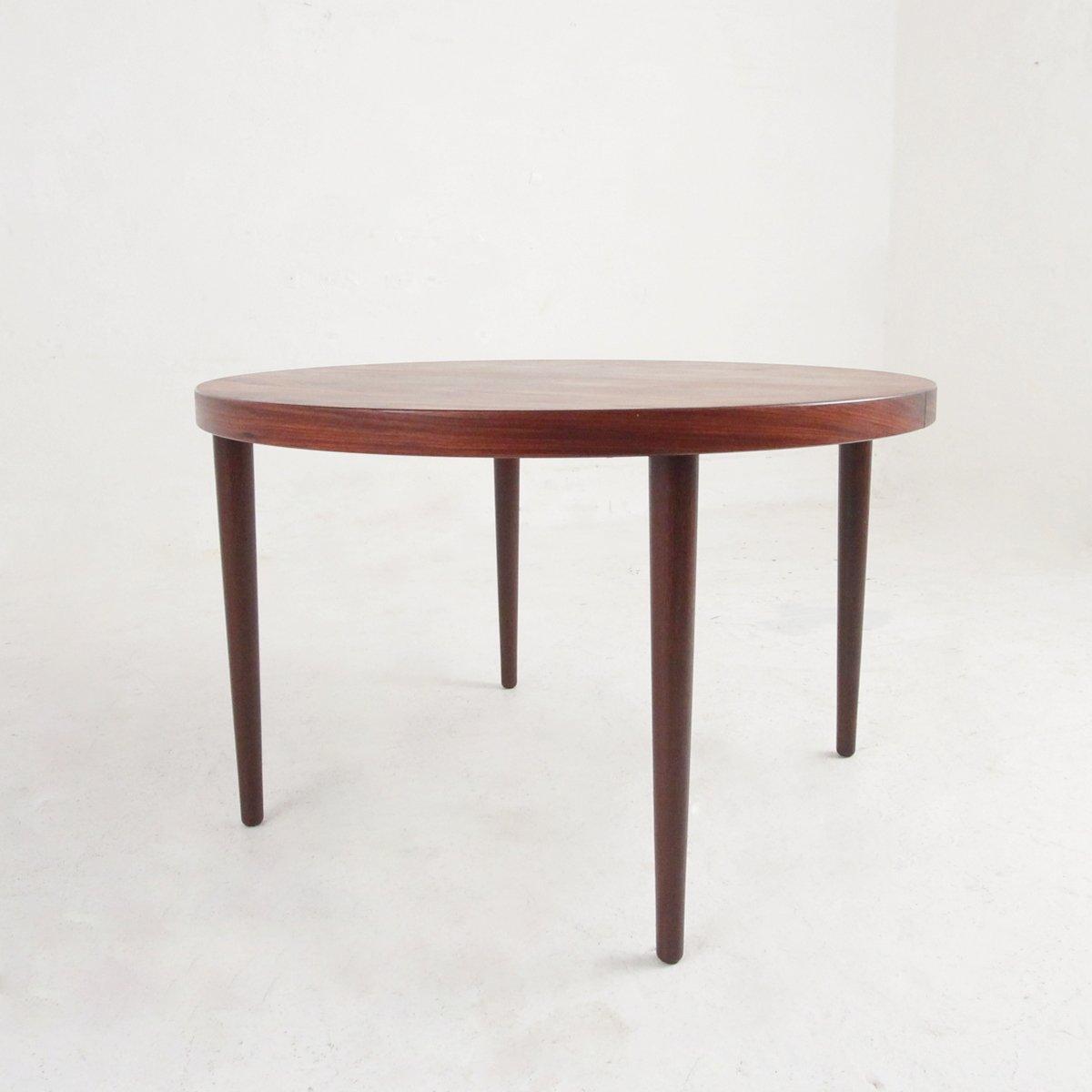Runder Esstisch aus Palisander von Kai Kristiansen, 1950er