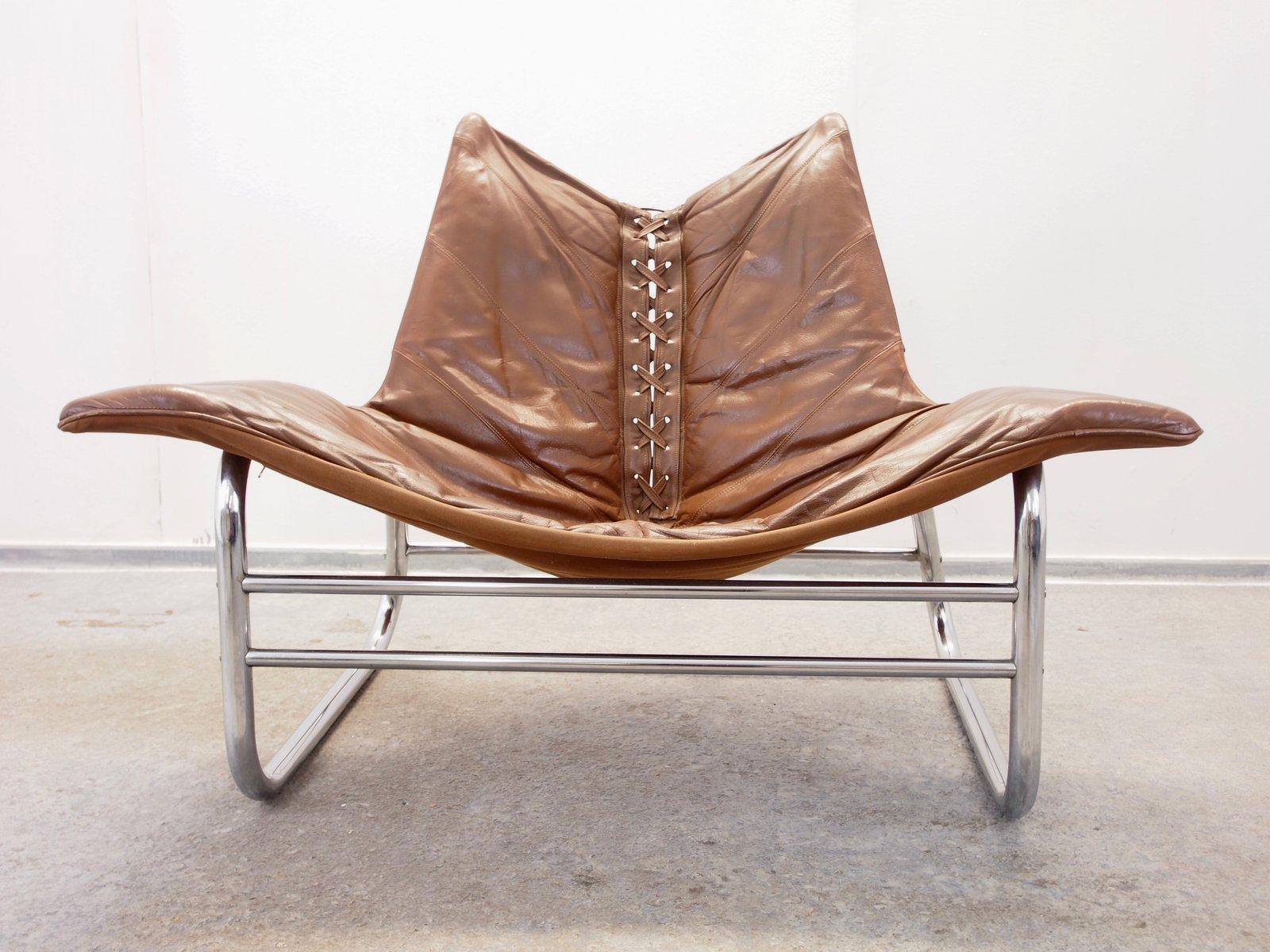 Niedriger dänischer Mid-Century Sessel