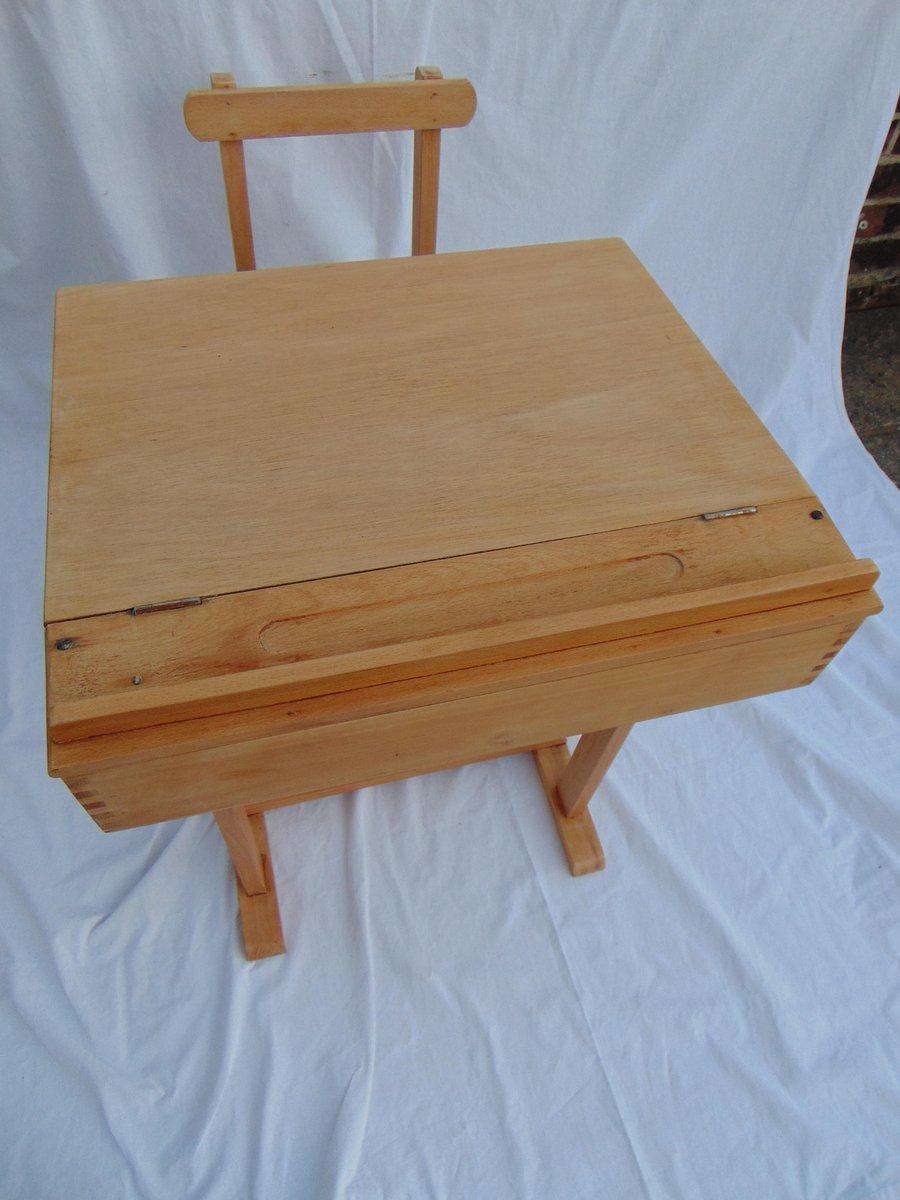 schulschreibtisch stuhl f r kinder 1970er bei pamono kaufen. Black Bedroom Furniture Sets. Home Design Ideas