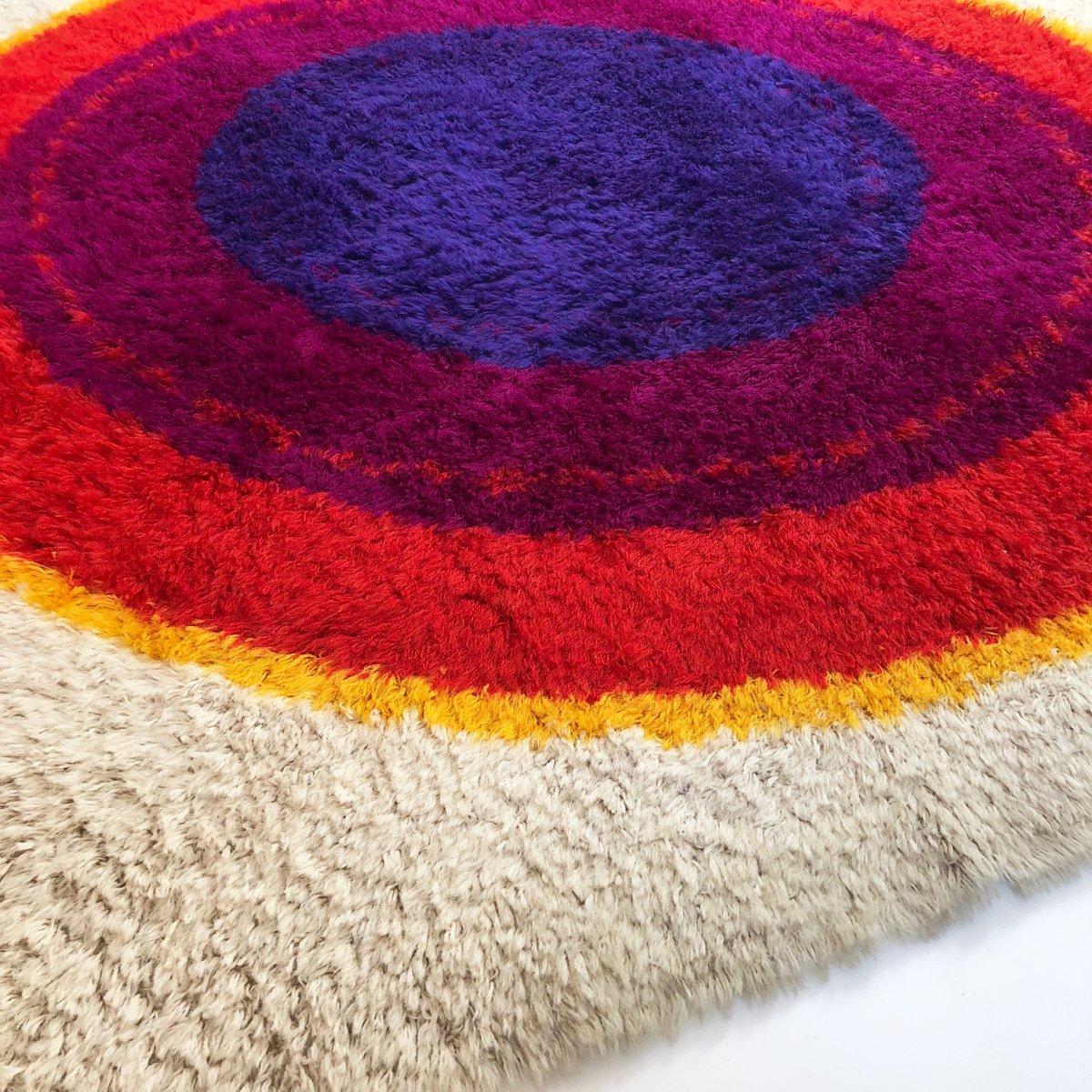 Danish Wool Ring Rya Rug From Hojer Eksport Wilton, 1960s